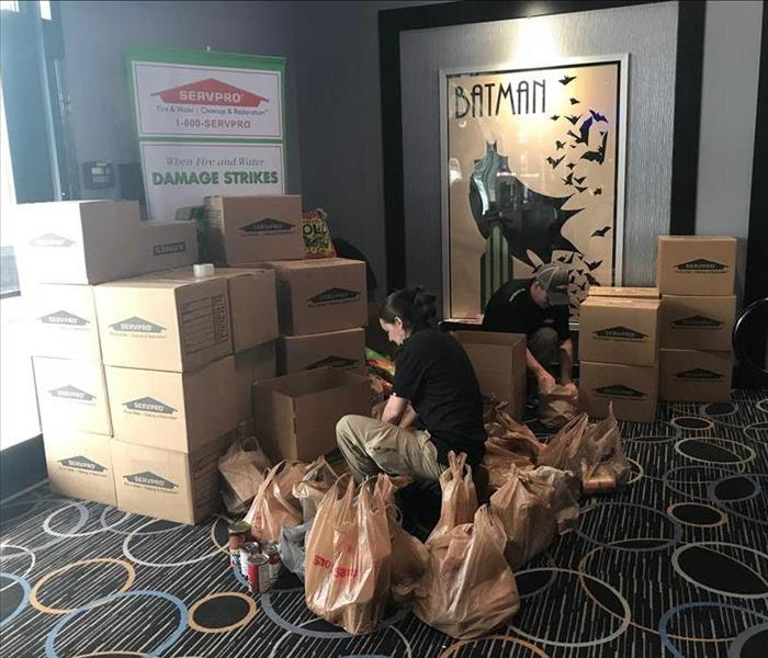 SERVPRO of Portland's 13th Annual Movie Event & Food Drive Is a Big Success!!